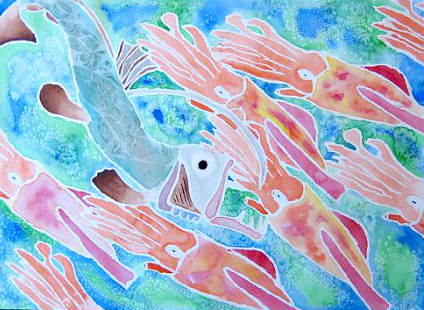 watercolor and crayon resist fish paintings ms amsler s artroom