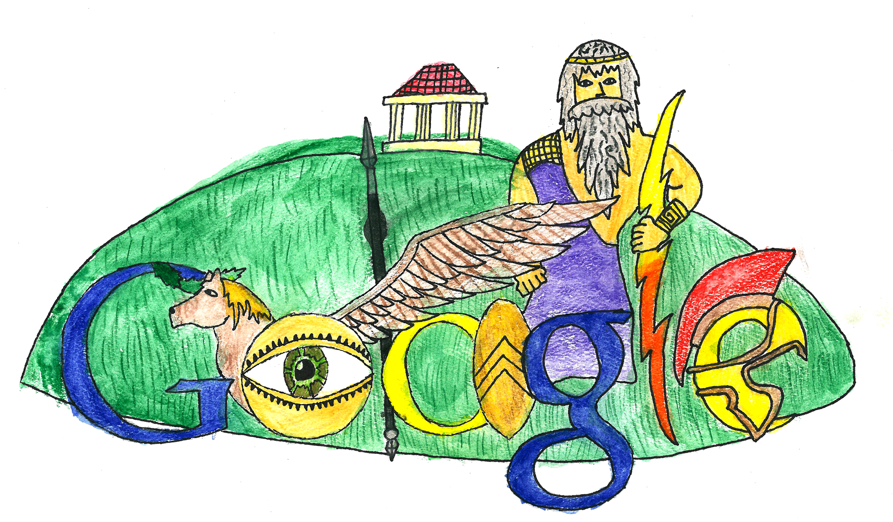 Google themes doodle -  Doodle For Google Is A National Contest Open To School Children In Grades K 12 It Challenges Students To Modify The Existing Search Engine Company S Logo