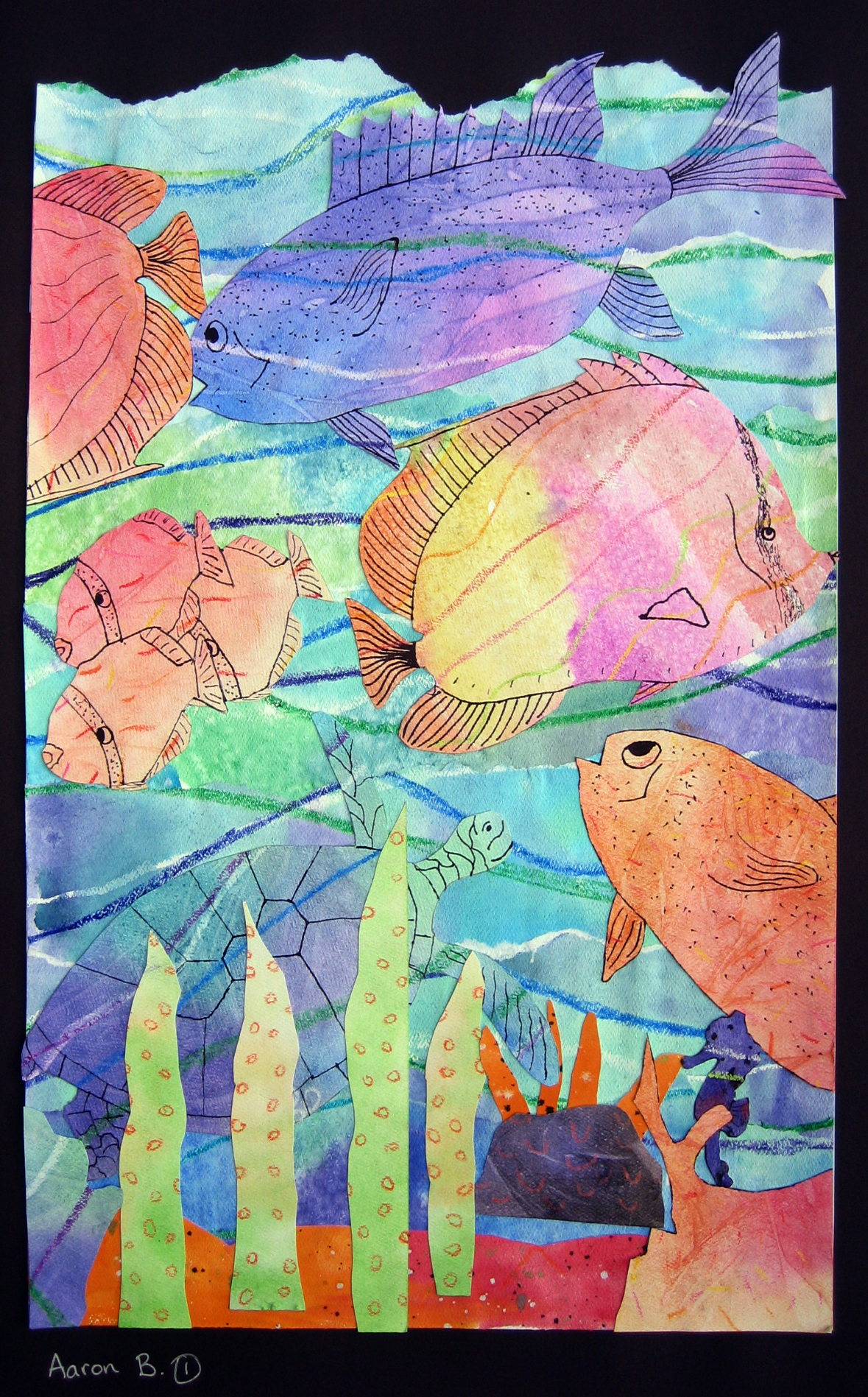 Watercolor Seascape Collages | Ms. Amsler's Artroom