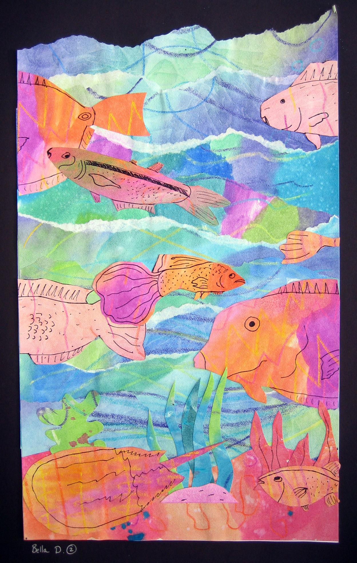 Watercolor Seascape Collages Ms Amsler S Artroom