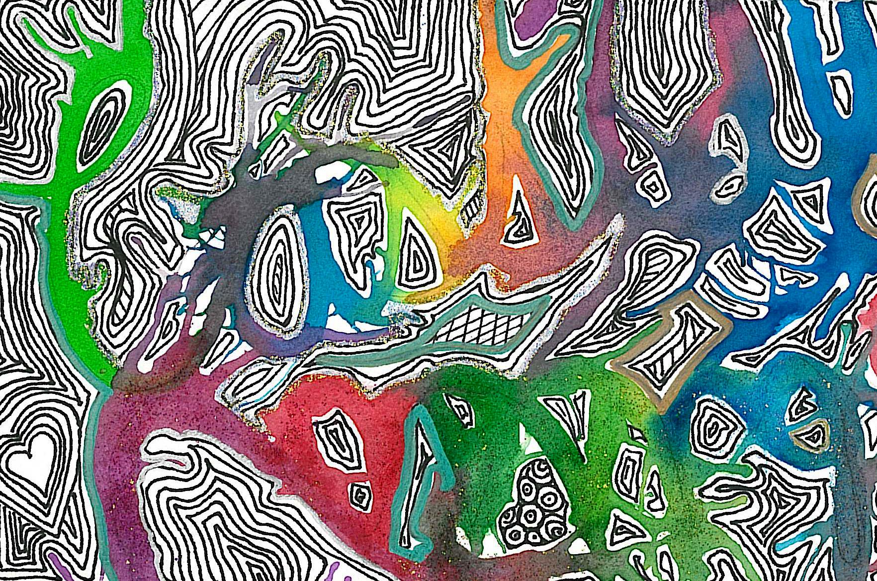 abstract designs splatter