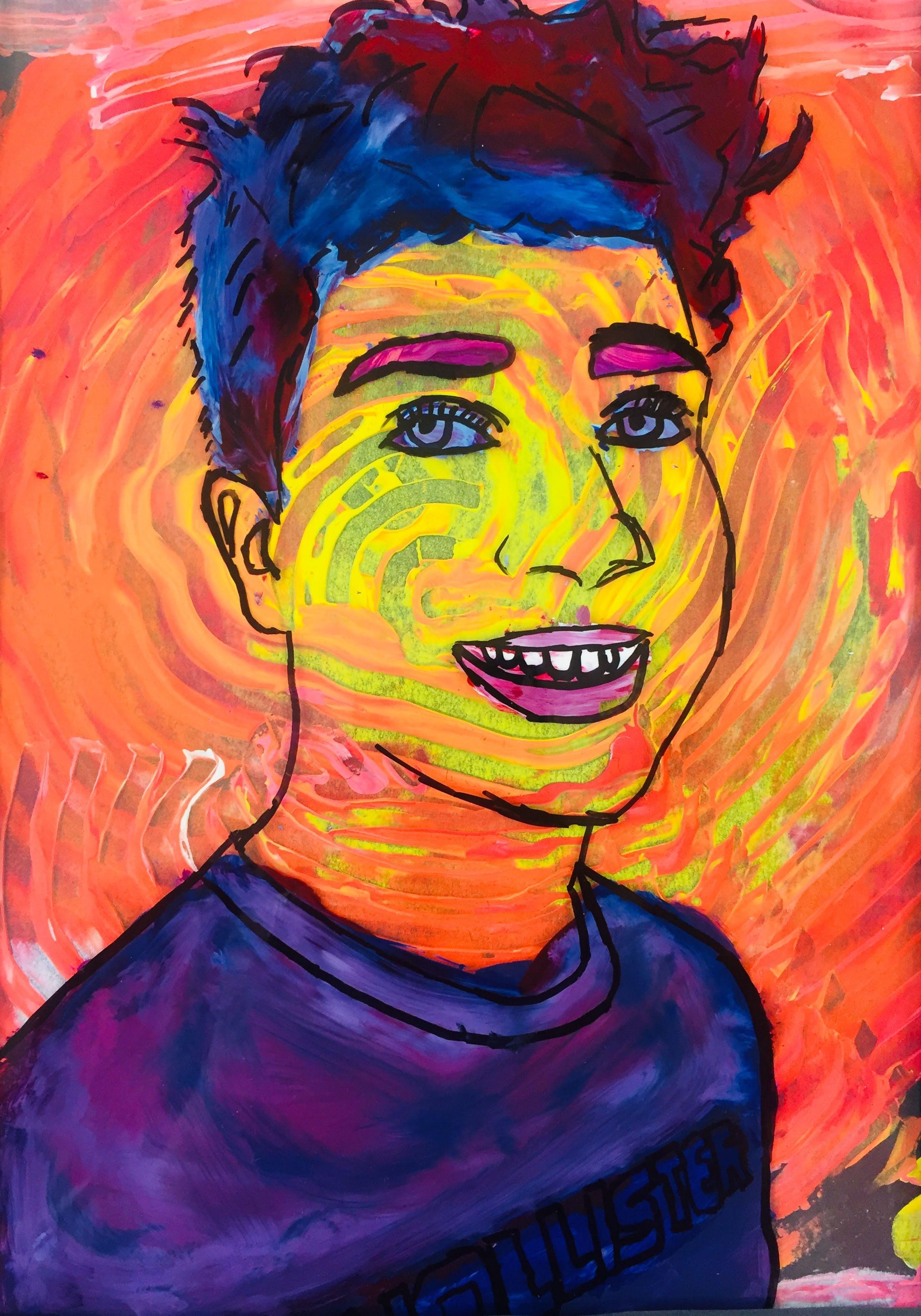 Reverse Painting Acetate Self Portraits Ms Amsler S Artroom